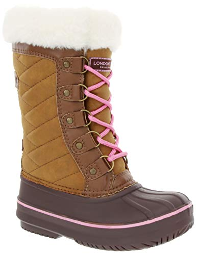 LONDON FOG Girls Beckenham Cold Weather Snow Boot TAN Size 1