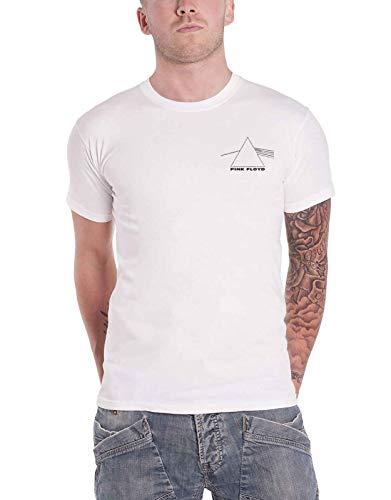 Pink Floyd T Shirt Dark Side of The Moon Prism Back Print offiziell Herren