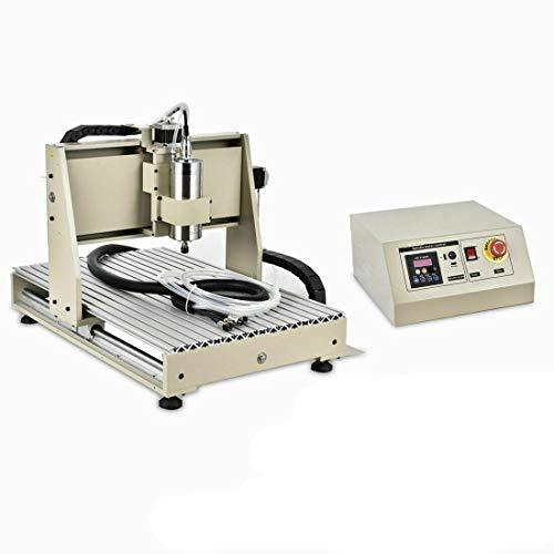 6040 3 ejes 1.5KW CNC fresadora de grabado máquina de grabado VFD, fresadora portal DHL entrega