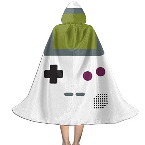 NSHANGMA Gameboy Shirt Unisex Hooded Cloak Cape Halloween Party Decoration Role Cosplay Costumes Black