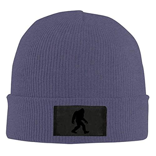 Drunce Bigfoot Sasquatch Black Knit Beanie Hats for Men's Women Soft Watch Cap