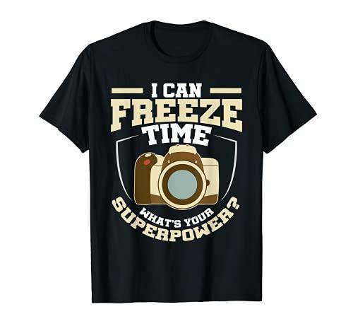Puedo congelar el tiempo ¿Cuál es tu superpoder? Camiseta