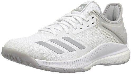 adidas Women's Crazyflight X 2 Volleyball Shoe, White/Silver Metallic/Grey Two, 5.5 M US