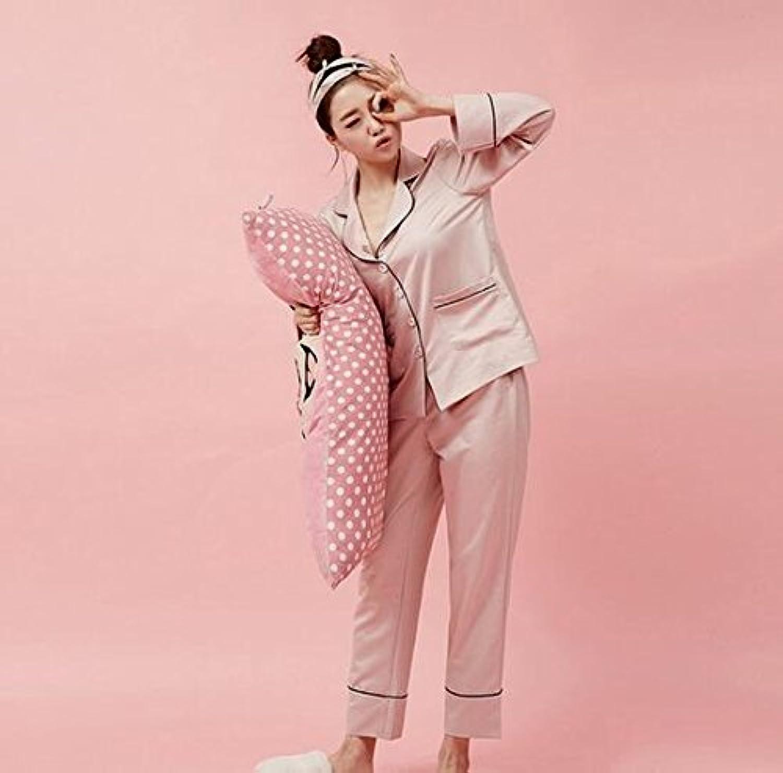 MHRITA New Brand Women's Pajamas Long Sleeve Autumn Winter Silk Pajama Set Women Sleepwear Home Suit Pijamas Femininos,Pink with Eyeshade,L