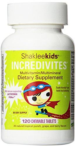 Shakleekids Incredivites Multivitamin 120 ct.