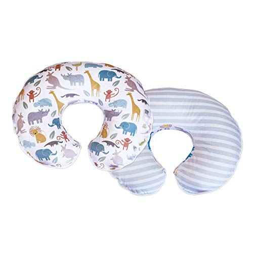 Boppy Cozy Nursing Pillow Cover, Pastel Animal Stripe, Minky Fabric in a Fashionable Two-Sided Design, Fits All Boppy Nursing Pillows and Positioners