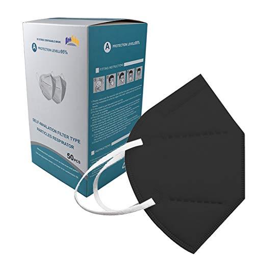 GYZF 100pc Adulto_𝙈𝙖𝙨𝙘𝙖𝙧𝙞𝙡𝙡𝙖𝙨_Desechables ,5 capas_Protector_Color_de_filtrado_cómodo Apto para interior y exterior