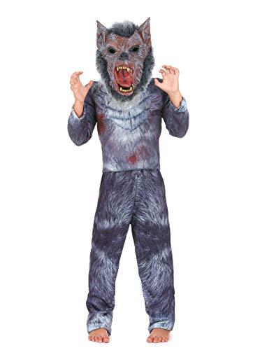 Generique - Costume da Lupo Mannaro per Bambino - Halloween - 8 - 9 Anni (146 cm)