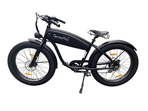 "41QeouQ5sYL - GermanXia® Black Sinner 26"" Zoll E-Fatbike Beachcruiser 13/17,5Ah, E-Bike, 250W, Hydraulik-Scheibenbremse"