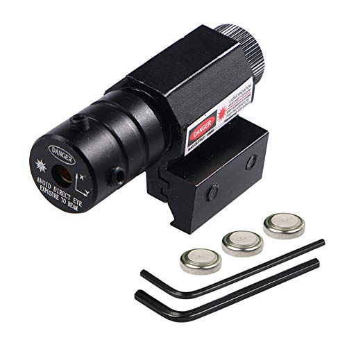 JahyShow Tactical Red Dot Laser Sight Tactical for Hunting 20mm Rail with Alan Wrenches Easy and Bright