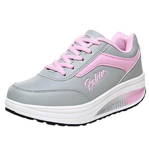 Zarupeng Sportschoenen voor dames, comfortabele ademende schoenen, vrijetijdsschoenen, wandelschoenen met dikke zolen