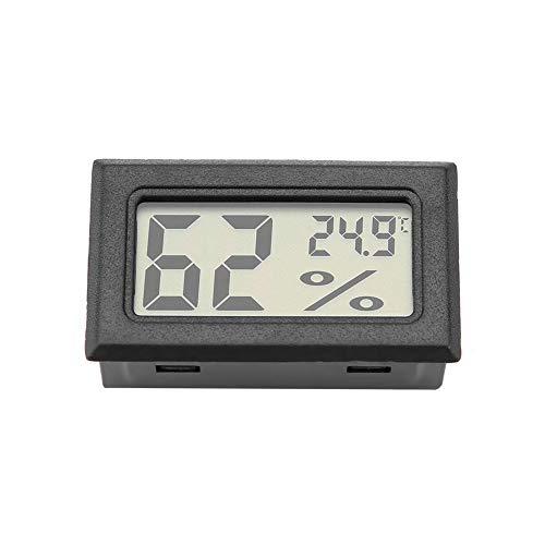 Garosa Medidor De Temperatura Rápido con Monitor Incorporado De Humedad Preciso y Termómetro De Higrómetro Digital Integrado con Sonda Incorporada(Negro)