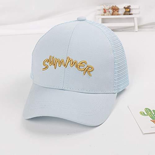 mlpnko Kinder Hut Neue Schutzhelm Kappe Buchstaben Kinder Baseballmütze Baby Sonnenhut blau 50-52cm geeignet für 2-4 Jahre alt