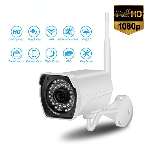 Mengen88 1080p FHD WiFi IP camera 2 MP Outdoor Wireless Vedio Bewaking, ondersteuning audio bidirectioneel en bewegingsdetectie, afstandsbediening alarm, gebruikt voor de veiligheid in huis