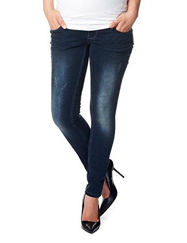 Noppies Damen Jeans OTB Skinny Britt Umstandsjeans, Dark Stone Wash, 40