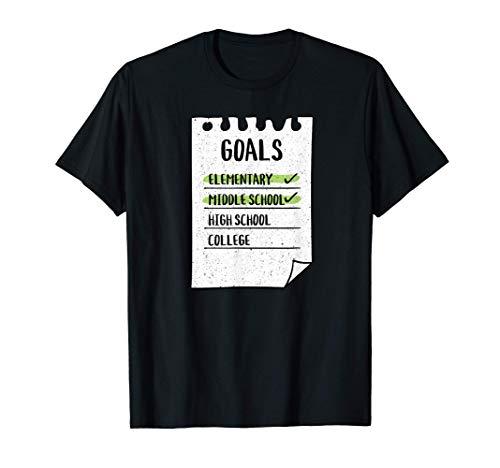 Clase de 2021 Primaria Escuela Media Divertida Graduación Camiseta