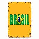 niaoyun Brasil-Metal Cartel de lata vintage de hierro pintura placa de metal novedad decoración de piscina colgante placas de arte pared retro vintage carteles