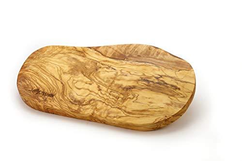 Tabla de cortar de madera de olivo rústico