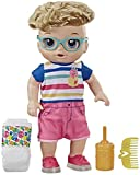 Baby Alive Step 'N Giggle Baby Blonde Hair Boy Doll with Light-Up Shoes, Responds with 25+ Sounds & Phrases, Drinks & Wets, Toy for Kids Ages 3 Years Old & Up