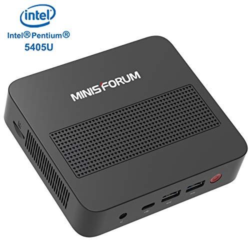 Mini PC Expandable RAM 8GB DDR4 128GB SSD Intel Pentium Gold 5405U Processor (2.30 GHz) Windows 10 with 4K@60Hz HDMI/Mini DP/USB-C Output,4 xUSB Ports,Mounting Bracket