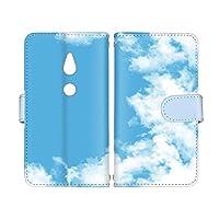 スマ通 Xperia XZ2 SO-03K / SOV37 / 702SO 国内生産 カード スマホケース 手帳型 SONY ソニー エクスペリア エックスゼットツー 【A.ブルー】 青空 雲 vc-653