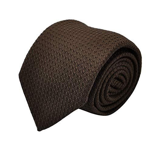 Segni & Disegni - Cravate en Grenadine de Soie 'grosso'. Marron