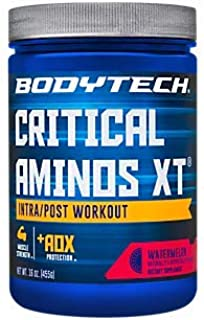Critical Aminos XT Intra/Post Workout Watermelon Supports Muscle Recovery (16 Ounce Powder) by BodyTech