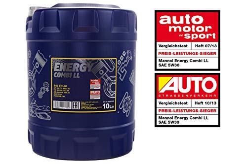 MANNOL Energy Combi LL 5W-30 API SN/CF Motorenöl, 10 Liter