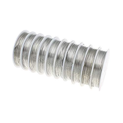 Perlin 5,5 Meter KUPFERDRAHT 0,5mm Silber Lackdraht Basteldraht SCHMUCKDRAHT Silberdraht Kupfer Draht Bastelschnur Kupferfaden Schmuckband C258