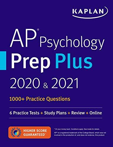 AP Psychology Prep Plus 2020 & 2021: 6 Practice Tests + Study Plans +...