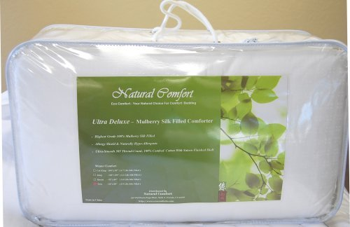 Shengmiao Ultra Deluxe 100-percent Natural Mulberry Silk Comforter for All Seasons,silk Filled Hand-mand , Twin