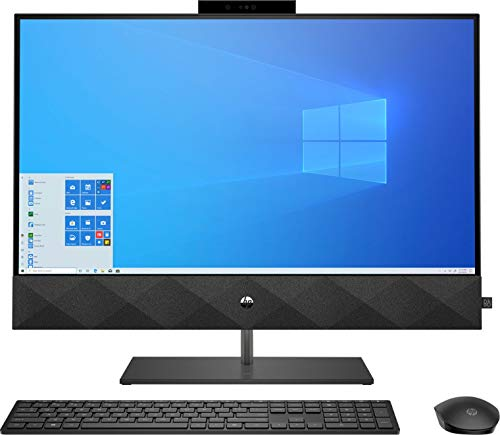 HP Pavilion 27 TOUCH Desktop 4TB SSD 64GB RAM EXTREME (Intel Core i7-10700K processor 3.80GHz TURBO Boost to 5.10GHz, 64 GB RAM, 4 TB SSD, 27-inch FHD TOUCHSCREEN, Win 10) PC Computer All-in-One Black