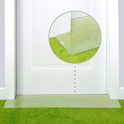 PETFECT Carpet Cat Scratch Protector  30 Inch Deterrent w/Slip Stopper Doorway Guard Design