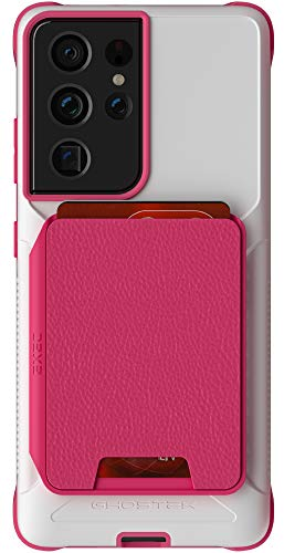 Ghostek EXEC Samsung S21 Case with Card Holder Detachable Magnetic Leather Wallet Perfect for Car Mounts Premium Protective Phone Cover Designed for 2021 Samsung Galaxy S21 5G (6.2') (Phantom Pink)