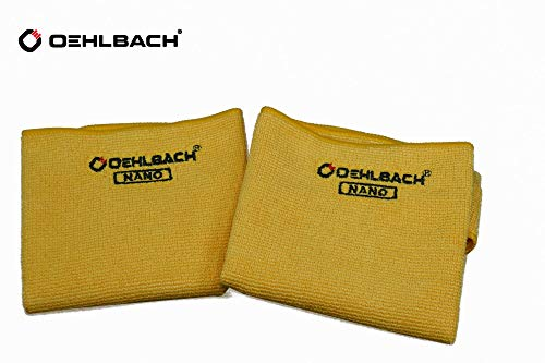 Oehlbach HDCC-30 - Paño de Limpieza de Microfibra para Gafas, televisores, cámaras, Pantallas y teléfonos móviles (2 Unidades, 30 x 30 cm)