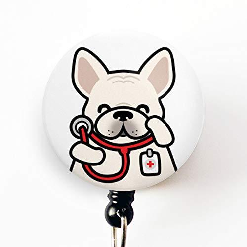 Frenchie Badge Reel, Nurse Badge Reel, Doctor Badge Reel, Cute Badge Reel, Nurse Gift, Doctor Gift, Veterinarian Badge Reel, Veterinarian Gift, Nursing Student Badge Reel, French Bull Dog Badge Reel