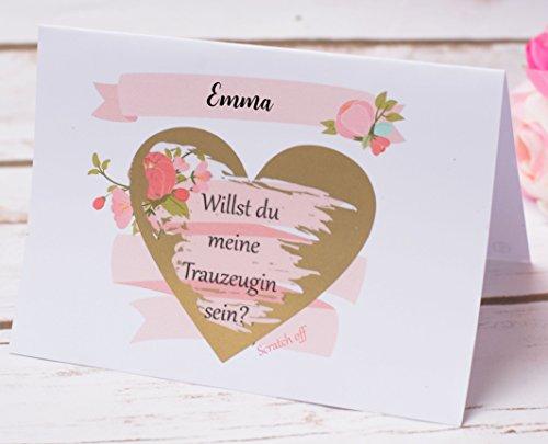 Happy Wedding Art Rubbellos Karte Willst du Meine Trauzeugin Sein Rosa Geschenk Rubbellos Karten Beste Freundin Hochzeit Einladung Idee #05