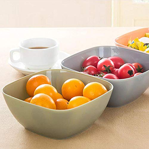 Heng Food-grade plastic vierkante fruitsnack Snoep Saladeplaat Kom Schotel Mand plastic plaat