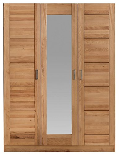 moebel-store24 Armadio PIA a 3 ante in legno di faggio massiccio