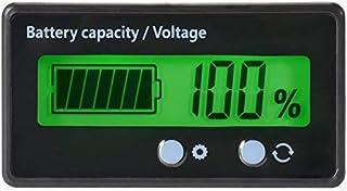 Batteriekapazität Tester & Voltmeter mit LCD Display Hintergrundbeleuchtung, wasserdichte 12/24/36/48 V Bleisäure Batterieanzeige Spannungs Meter Monitor Detektor für Auto Fahrzeug