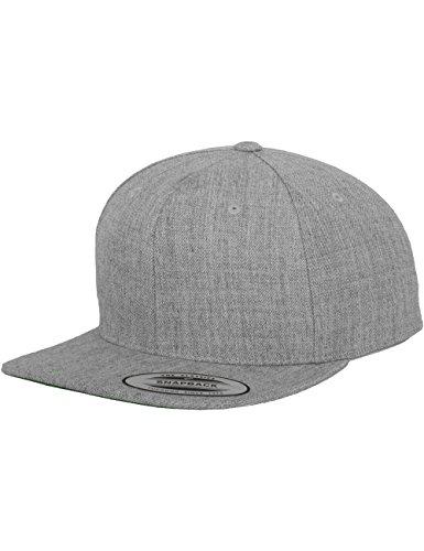 Flexfit Classic Snapback Cap, Mütze Unisex Kappe für Damen und Herren, One Size, Farbe heather