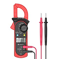 Accurately measures: AC/DC voltage, only for AC current (not for DC current), resistance, and also provides diode and continuity tests Jaw opening: the Clamp measures the AC current in a conductor up to 26mm without interrupting the circuit Additiona...