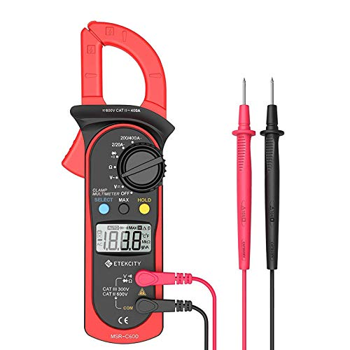 Etekcity Auto-Ranging Clamp Meter, Digital Multimeter with Amp,Volt,Ohm,Diode and Resistance Test