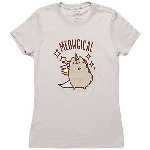Pusheen Meowgical Pusheenicorn Magic Juniors T-Shirt - Grey (Large)
