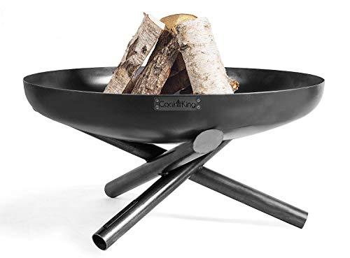 Brasero Indiana Ø 100 cm Brasero para jardín de acero cesta para fuego como fuente de calor o barbacoa CookKing