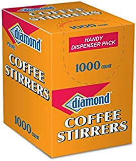 Diamond 00777 Plastic Coffee Stirrers 1000 Count