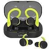Wireless Headphones for Sport Bluetooth Earbuds with Double Earhooks V5.0 IPX7 Waterproof in