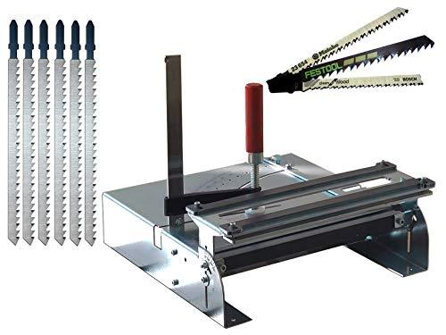 Stichsägetisch 012S-5 Bundle mit Metabo + Bosch + Festool Sägeblätter für Laminatschneider