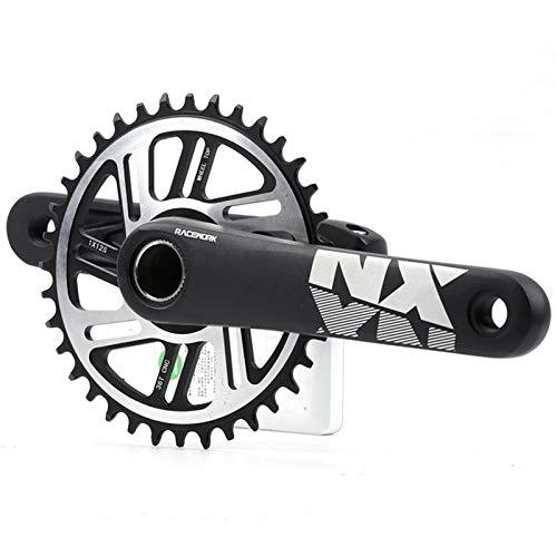 Plato de Bicicleta Bielas 170mm Bicicletas Crank 1XSystem Bicicletas Chainwheel 104 BCD Estrecho Ancho Chainring 34T 36T 12 Velocidad for Bicicleta de montaña MTB Bielas (Color : 34T Set)