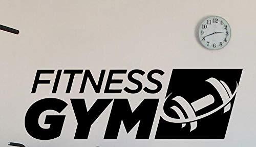 Axlgw Fitness Gym Logo Wandtattoo Sport halter Vinyl Interieursticker Art Decor Wandschildering Afneembare Muurposter Maat 86X28Cm
